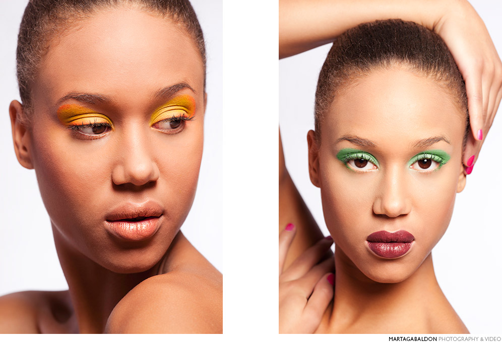 Bright color make up